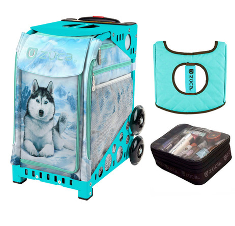 Zuca Husky (with turniquoise Frame) with FREE Seat Cover and Zuca Utility Pouch(Small)