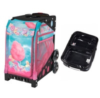 Zuca Sport Bag - Cotton Candy (Black Frame) with FREE One Large and Two Mini Utility Pouch