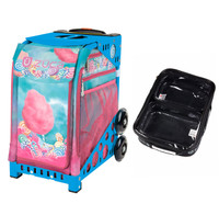 Zuca Sport Bag - Cotton Candy (Blue Frame) with FREE One Large and Two Mini Utility Pouch