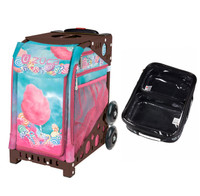 Zuca Sport Bag - Cotton Candy (Brown Frame) with FREE One Large and Two Mini Utility Pouch