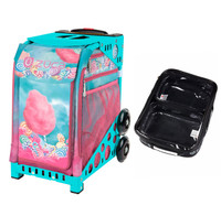 Zuca Sport Bag - Cotton Candy (Turniquoise Frame) with FREE One Large and Two Mini Utility Pouch