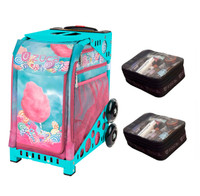 Zuca Sport Bag - Cotton Candy (Turniquoise Frame) with Gift 2 Small Utility Pouch