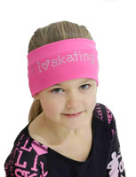 Elite Xpression - I LOVE SKATING Headband - Pink