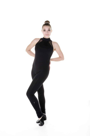 Elite Xpression - One Piece in Supplex with Mesh Inserts - Black (020)