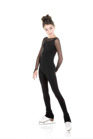 Elite Xpression - One Piece in Supplex with Mesh Long Sleeves - Black (020)