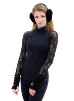 Elite Xpression - Black Xpression Top with Black Lace Sleeves