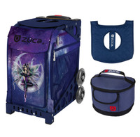 Zuca Fairy Dust bag with Navy Frame + FREE Lunchbox and Seat Cover