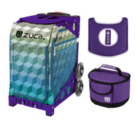 Zuca Cubizm bag with Purple Frame + FREE Lunchbox and Seat Cover