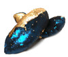 FLIPZ Mermaid Flip Sequin Figure Skating Soakers - Gold, Navy