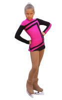 IceDress Figure Skating Dress-Thermal -  Avangard (Fuchsia with Black ) 2nd view