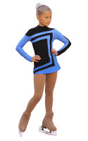 IceDress Figure Skating Dress-Thermal -  Avangard (Black with Blue) 2nd view