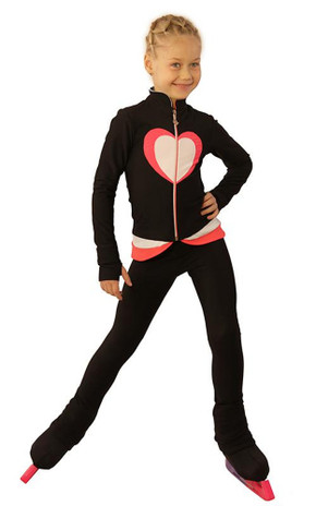 IceDress Figure Skating Outfit - Thermal - Tutti Frutti(Black, Coral, White)