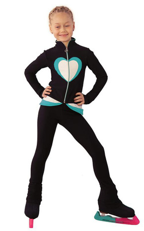 IceDress Figure Skating Outfit - Thermal - Tutti Frutti(Black, Turquoise, White)