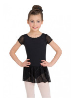 Capezio Little Girls' Sequined Puff Sleeve Dress