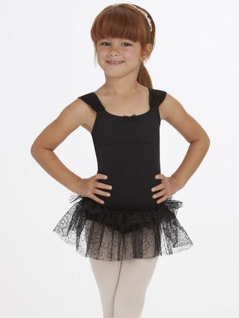 Capezio Little Girls' Ruched Strap Dress (Size CL)