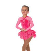 Jerry's Ice Skating Dress   - 12 Ooh La Lace  – Warm Pink