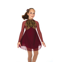Jerry's Ice Skating Dress   - 45 Gold Over Garnet