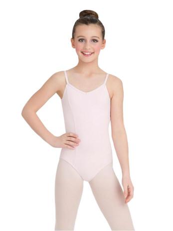 Capezio Girls' Classics V-Neck Camisole Leotard Pink (Small)