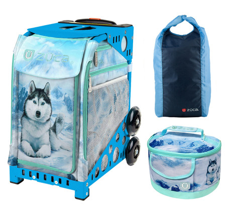 Zuca Sport Bag -  Husky with FREE Zuca Sport Bag -  Stuff Sack - Bluezberry and Lunchbox (Blue Frame)