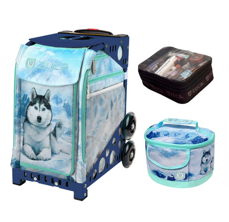 Zuca Sport Bag -  Husky with FREE Lunchbox and Small Utility Pouch (Navy Frame)