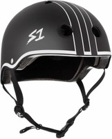 S1 Lifer Helmet - Black Matte w/ White Outline