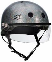 S1 Lifer Visor Helmet - Silver Gloss Glitter w/ Clear Visor