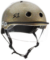 S1 Lifer Visor Helmet - Gold Gloss Glitter w/ Clear Visor