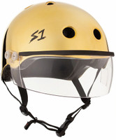 S1 Lifer Visor Helmet - Gold Mirror w/ Clear Visor