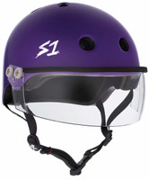 S1 Lifer Visor Helmet - Purple Matte w/ Clear Visor