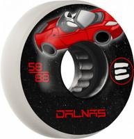 Eulogy Pro Jeff Dalnas Signature Wheel Rocket Man Aggressive Inline Wheel 58mm 88A 4pk White