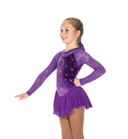 Jerry's Ice Skating Dress 149 - Jewelled Lace Dress - Purple