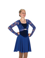 Jerry's Ice Skating  Dress - 272 Tiara Twirl Dance Dress Royal Blue