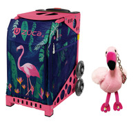 Zuca Sport Bag - Flamingo with FREE Animal Key Chain w/Crystal Skates