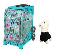 Zuca Sport Bag - Llama Rama with FREE Animal Key Chain w/Crystal Skates