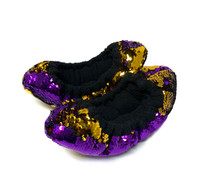 FLIPZ Mermaid Flip Sequin Figure Skating Soakers - Purple, Gold