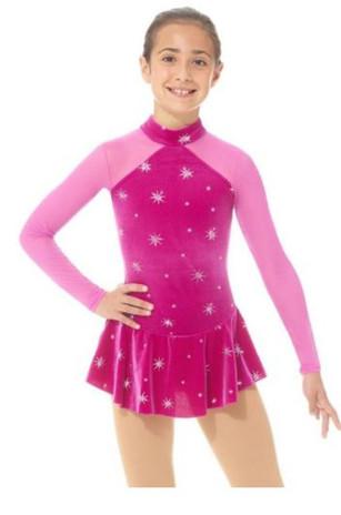 Mondor Mock Neck Glitter Figure Skating Dress 2764 - North Star