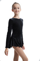 Mondor Born to Skate Glitter Figure Skating  Dress 2711 -  Black/Silver