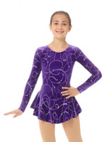 Mondor Born to Skate Glitter Figure Skating Dress 2723 - Purple Ribbons