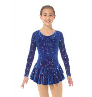 Mondor Born to Skate Glitter Figure Skating Dress 2723 - Blizzard
