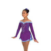 Jerry's Ice Skating Dress   - 470 Spins & Spirals (Purple/Blue)