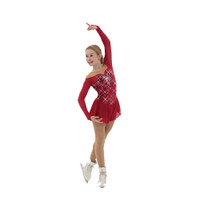 Jerry's Ice Skating Dress   - 543 Ruby Resonance
