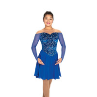 Jerry's Ice Skating Dress   - 566 Tango & Twirl Dance (Royal Blue)