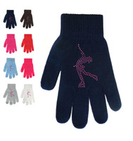 Magic Gloves with Pink  Rhinestones