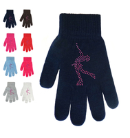 Magic Gloves with Pink  Rhinestones