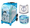 Zuca Sport Bag - Husky with Husky Lunchbox and White Seat Cover (Blue Frame)