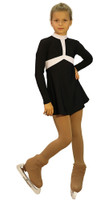 IceDress Figure Skating Outfit - Thermal - Arabesque (Black and White)