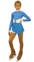 IceDress Figure Skating Outfit - Thermal - Oriental-2 (Blue and White)