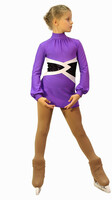 IceDress Figure Skating Dress-Thermal -  Jackson (Purple)