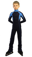 IceDress - Figure Skating Training Overalls -  Axel (Blue and Light Blue)
