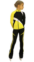IceDress - IceDress Figure Skating Outfit - Thermal - Split (Yellow)
